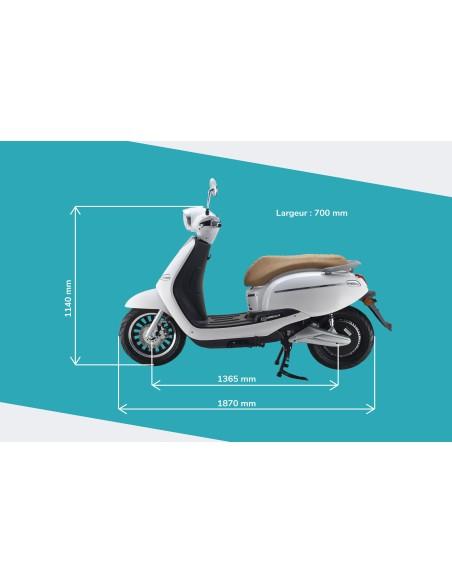 Dimensions du scooter électrique e-swan