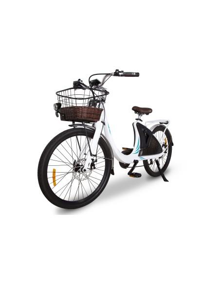 vélo électrique féminin avec panier