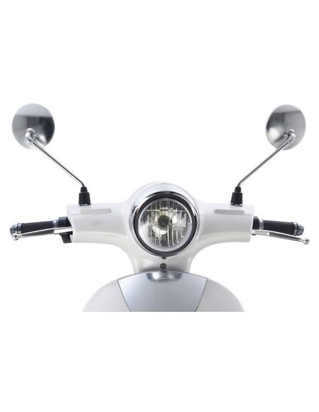 feu avant e-swan scooter électrique style rétro