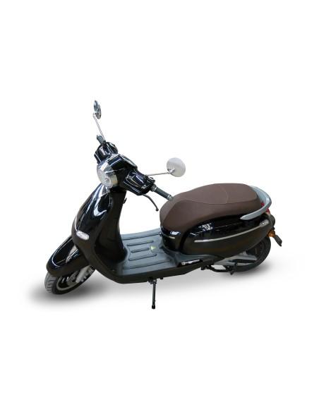 scooter éléctrique noir e-swan design vintage
