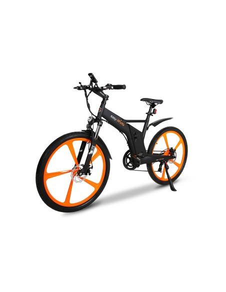 vélo VTT électrique orange