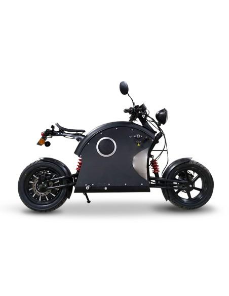 Moto électrique e-rock'n roll look steampunk et futuriste