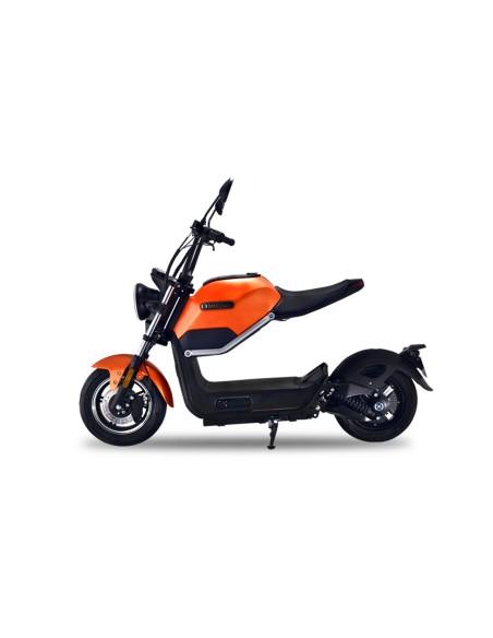 Moto électrique e-miku 800 watts 50 cc au design futuriste et rétro