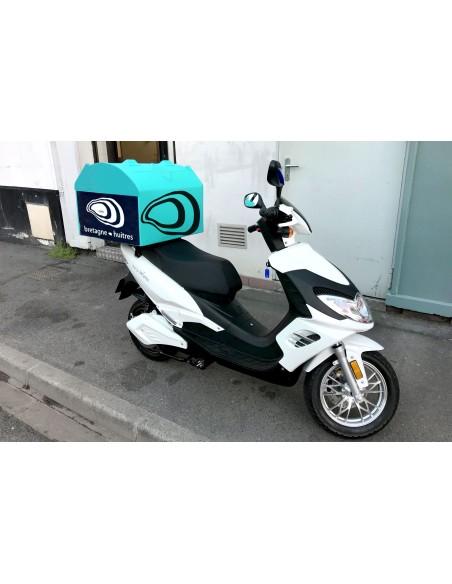Scooter électrique professionnel livreur topcase