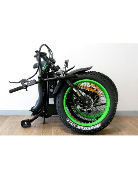 fatbike e-nomad S pliable plié vert