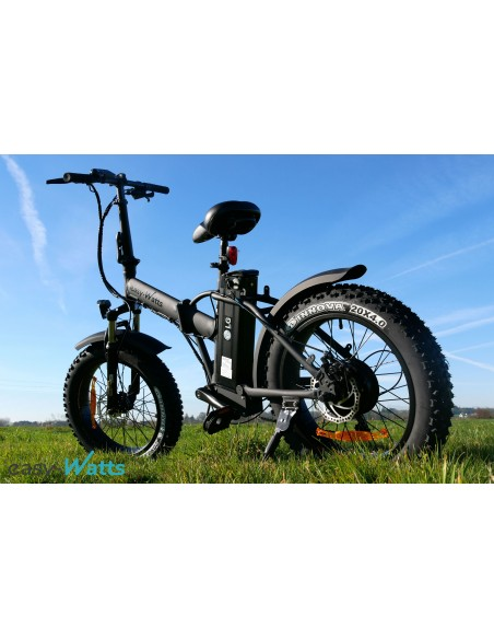 vélo fatbike électrique e-nomad noir mat