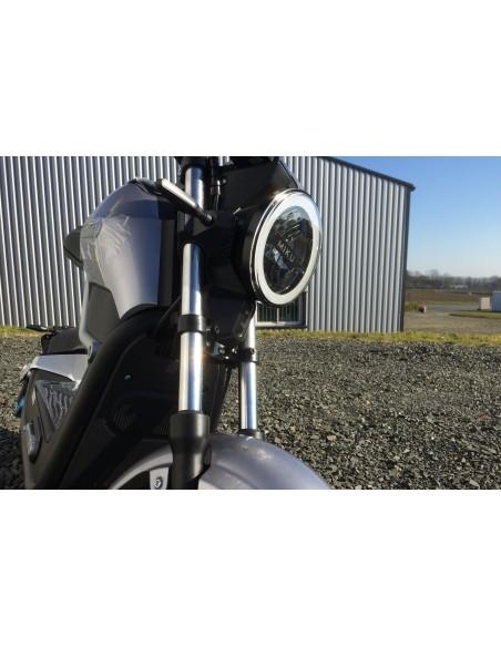 Moto électrique adulte homologuée route e-miku coloris gris