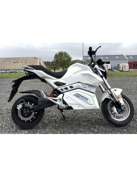 Moto cross électrique blanche sport 125 cc