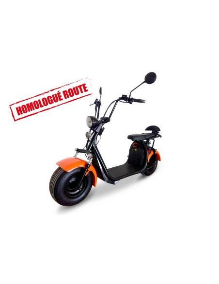 scooter électrique à gros pneu type citycoco homologué route