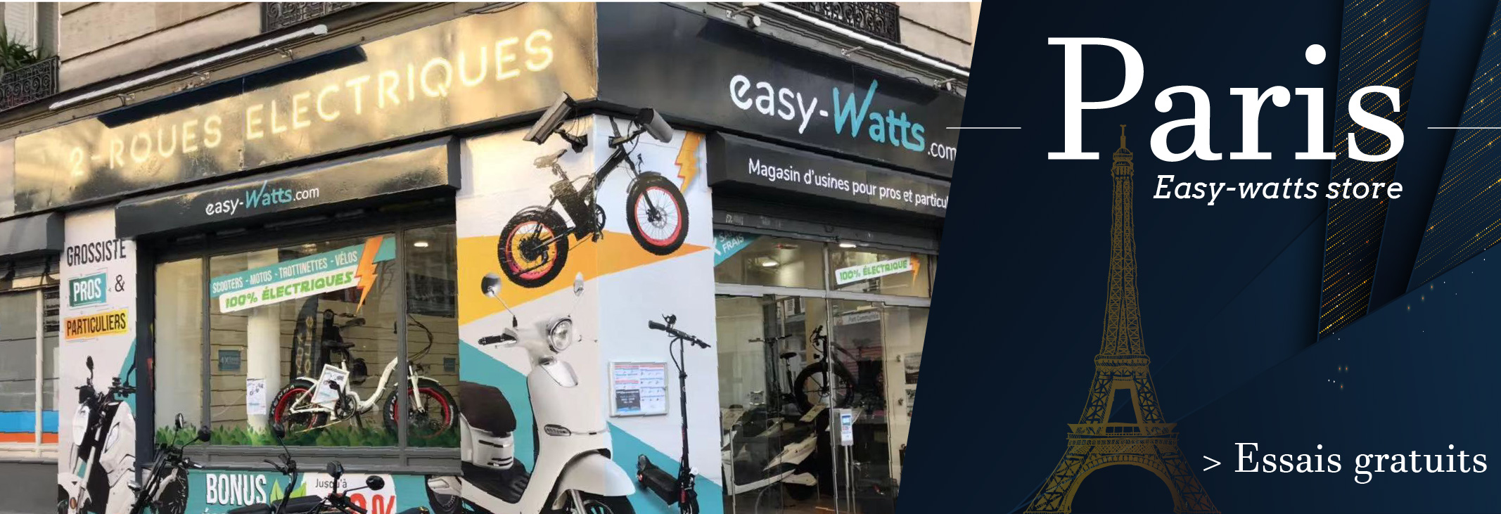 Magasin scooter electrique paris 11eme store showroom