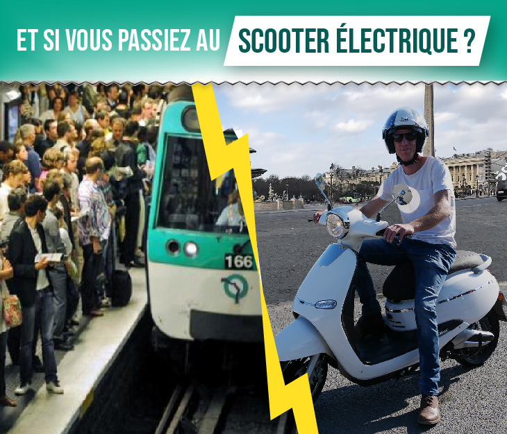 scooter electrique vs metro
